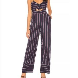 Bardot Women's Lulu Jumpsuit, Navy Stripe M